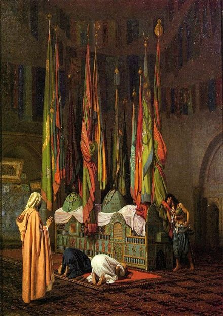 Gerome, Jean Leon: The Tomb of Hazrat Imam Hisain Allahis Salam. Fine Art Print/Poster. Sizes: A4/A3/A2/A1 (001406)